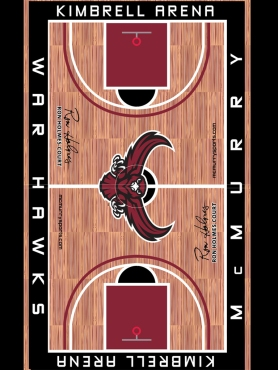 McMurry University Basketball Floor Design