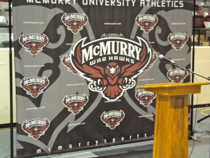 McMurry University Media Backdrop