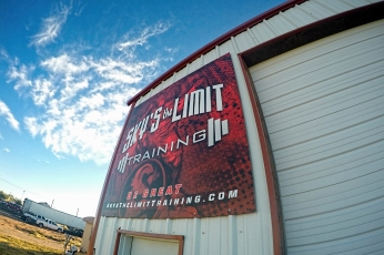 Sky's the Limit Training Sign, Andrews, TX