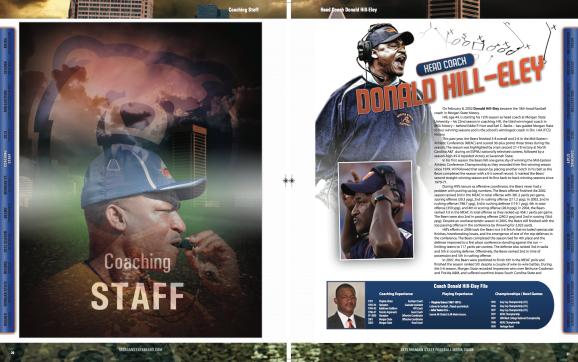 2013 Morgan State Football Media Guide Spread - SIDesign