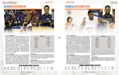 2013-14 Morgan State Men's Basketball Media Guide Spread - SIDesign