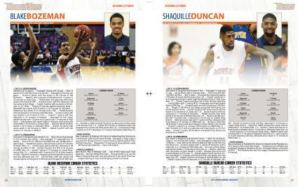 2013-14 Morgan State Men's Basketball Media Guide Spread - SIDesign
