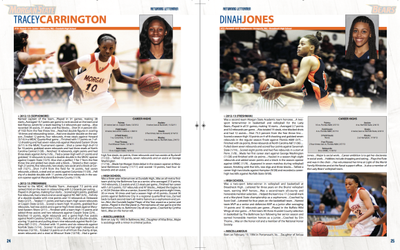 SIDesign created the 2013-14 Women's Basketball Media Guide Spread
